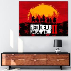 تابلو شاسی گالری استاربوی طرح بازی Red Dead Redemption مدل Game 23