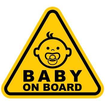 برچسب بدنه خودرو طرح Baby on Board مدل B-02