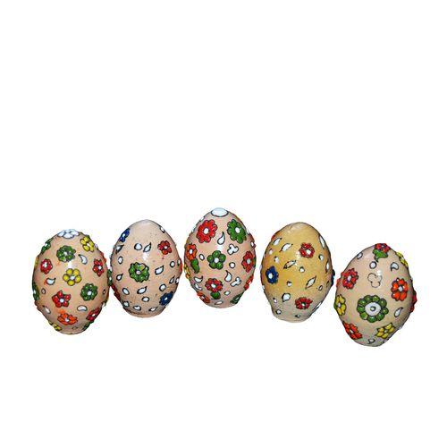 تخم مرغ تزئینی مدل گلبرگ مجموعه 5 عددی