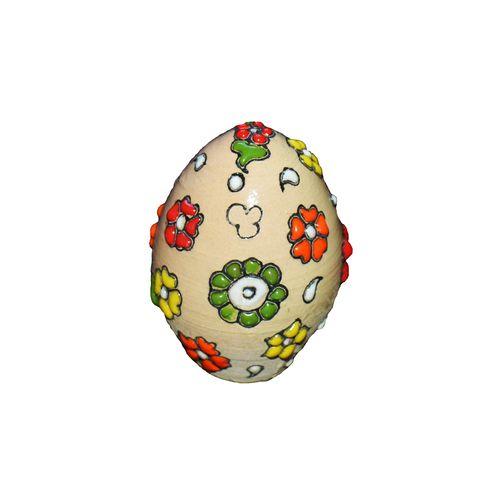 تخم مرغ تزئینی طرح شکوفه کد 3000