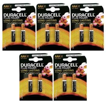 باتری نیم قلمی دوراسل مدل Plus Power Duralock بسته 10 عددی