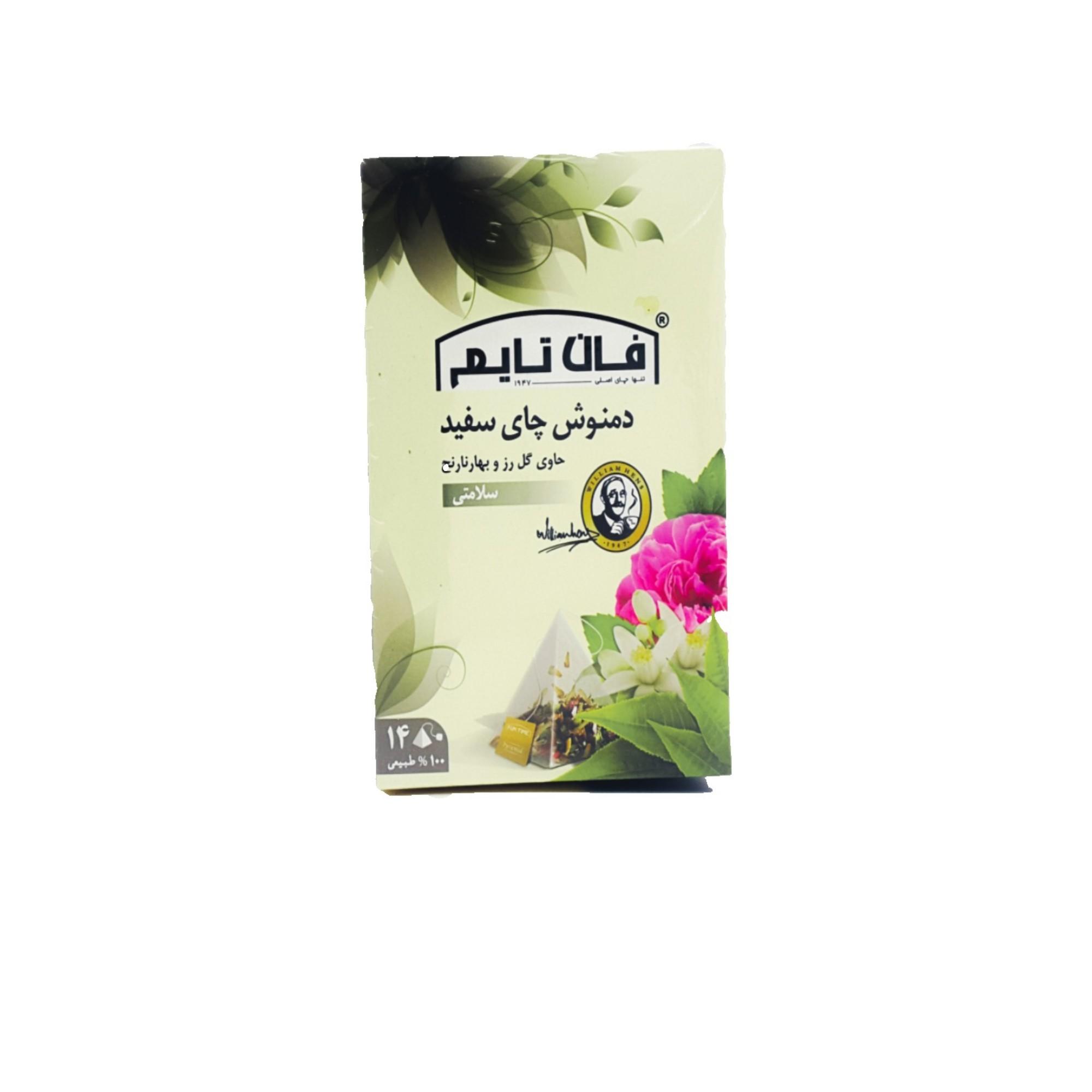 دمنوش چای سفید فان تایم بسته 14عددی