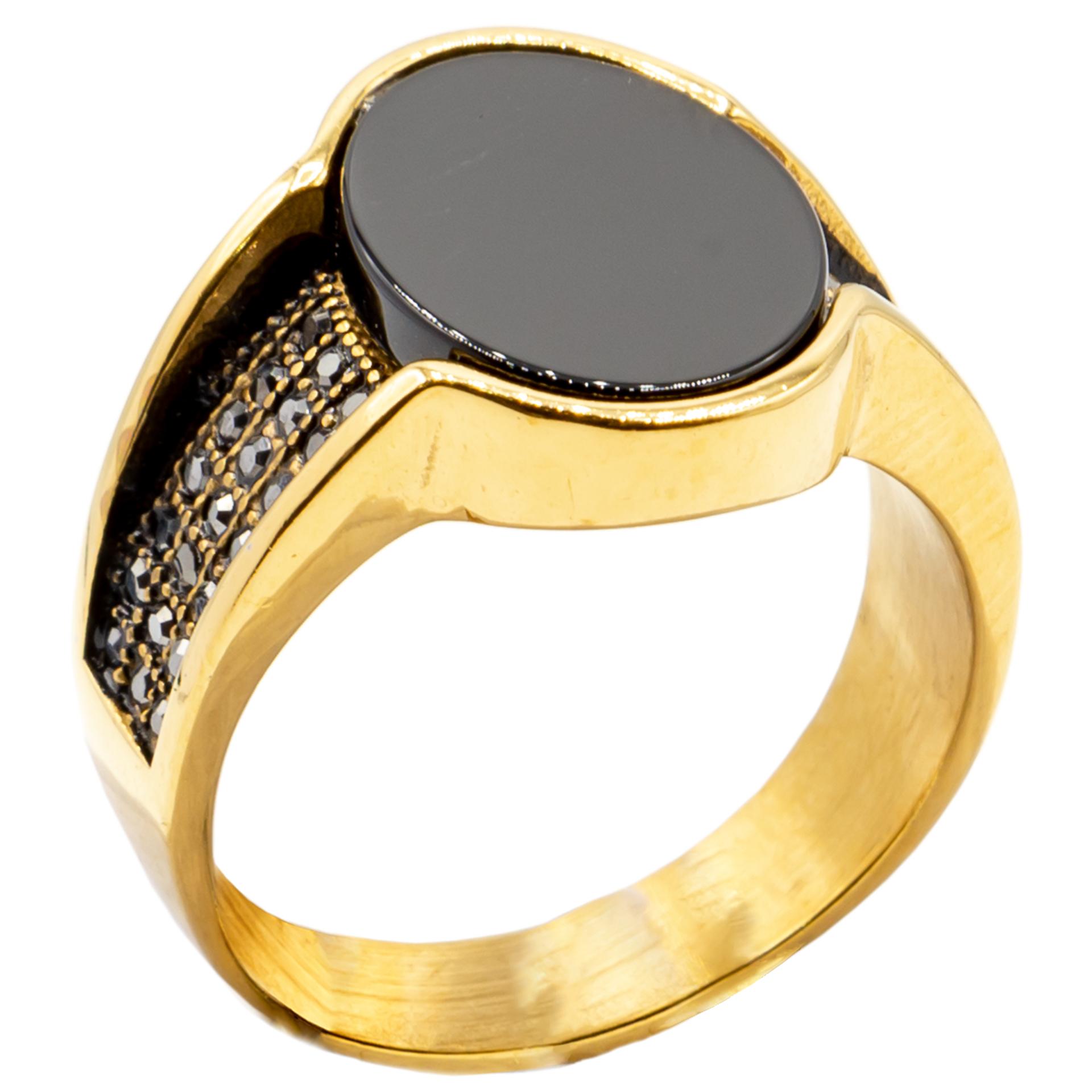 انگشتر مردانه بهارگالری مدل Oval Luxury