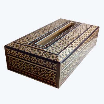 جعبه دستمال کاغذی خاتم کاری مدل 1139