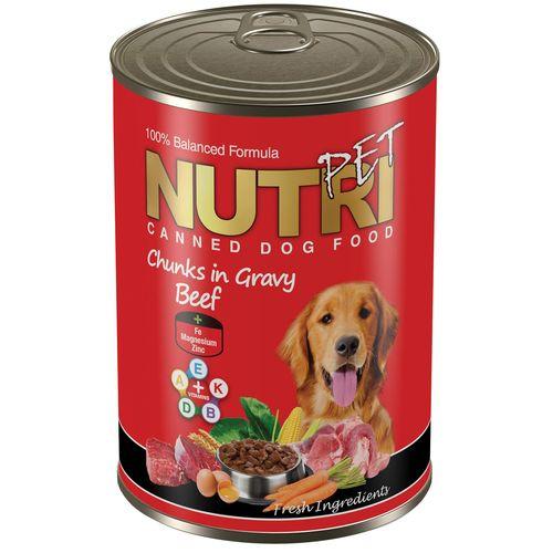 کنسرو سگ نوتری پت مدل Beef in Gravy مقدار 425 گرم