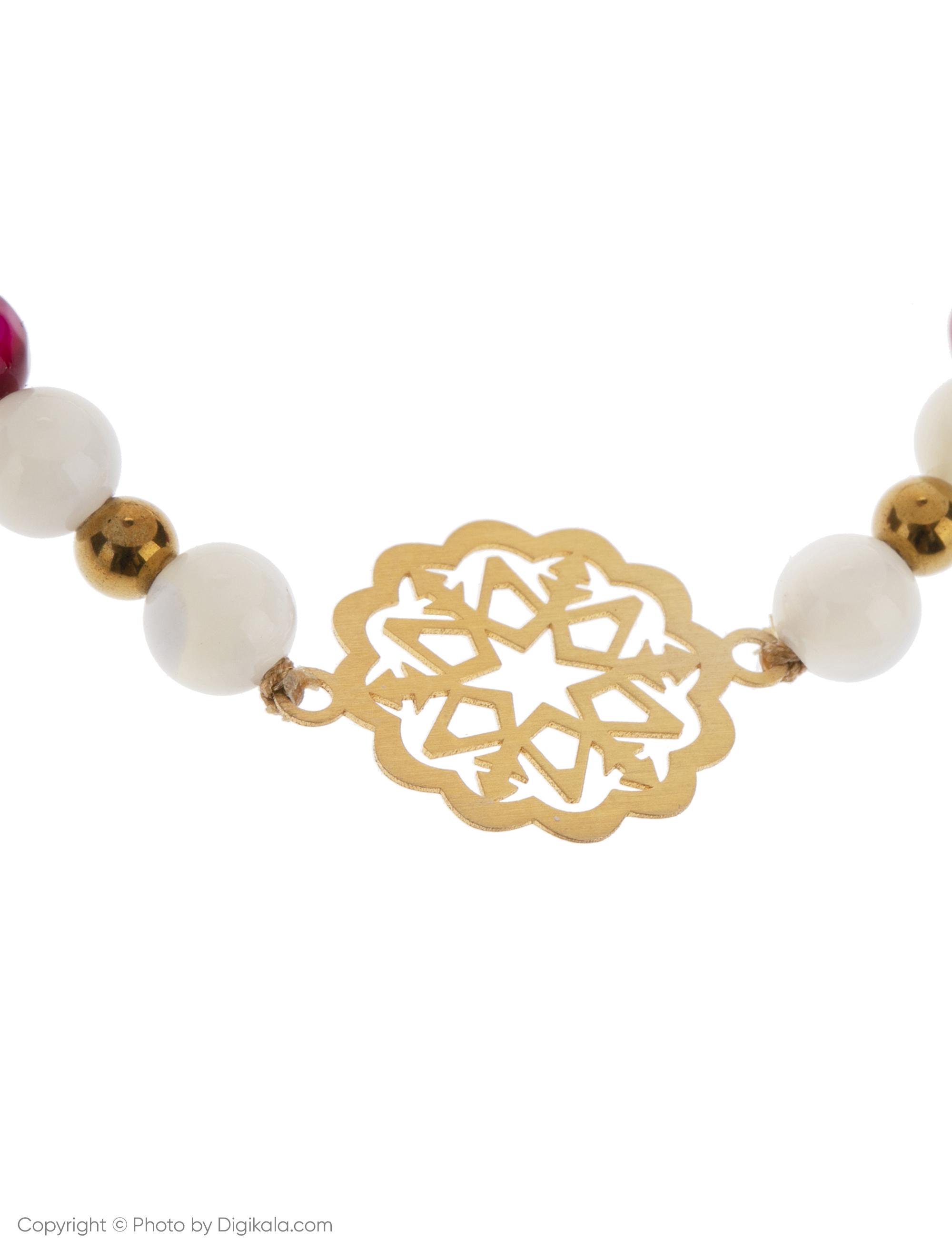دستبند طلا 18 عیار زنانه گرامی گالری مدل B608