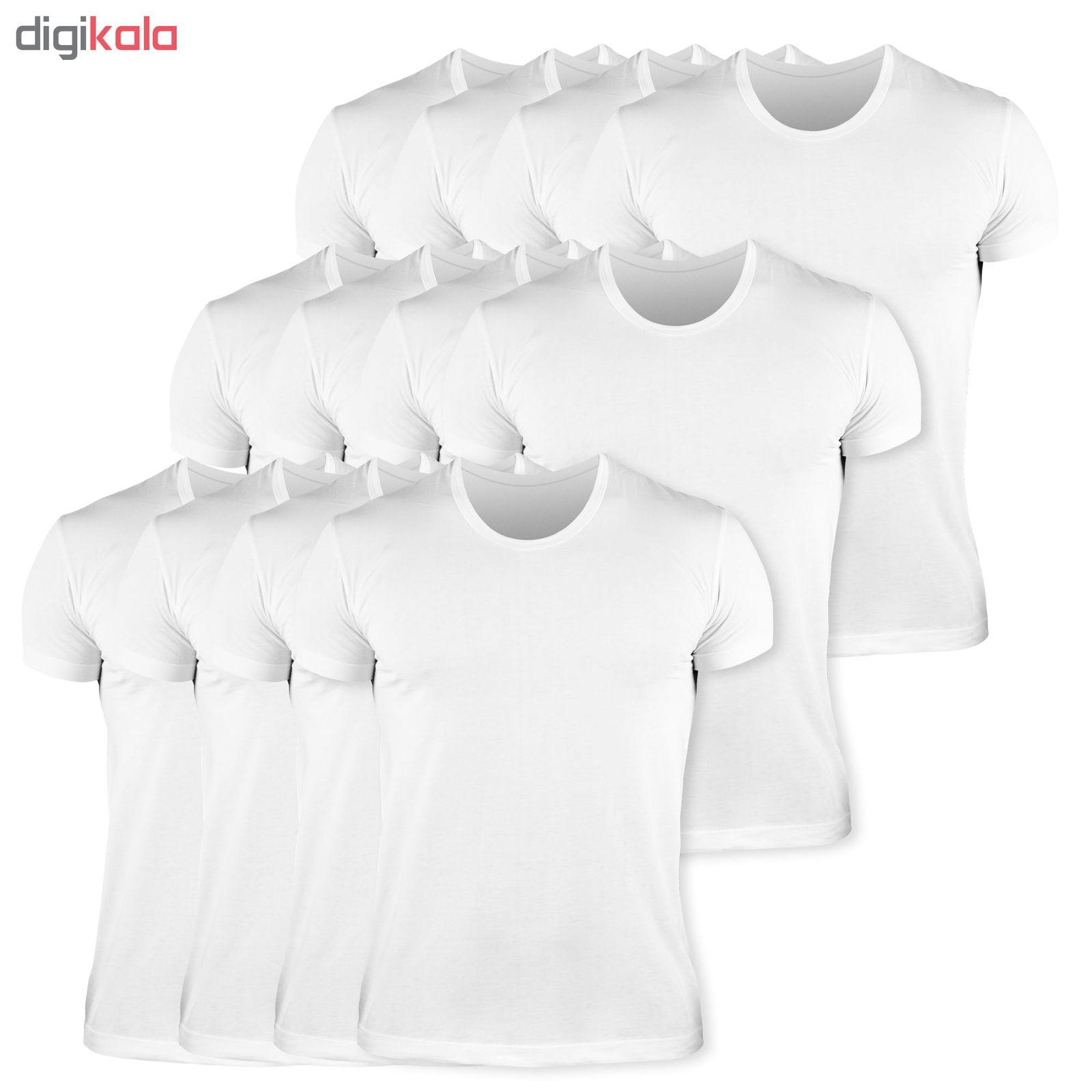 زیرپوش مردانه کیان تن پوش مدل U Neck Shirt Classic W مجموعه 12عددی main 1 1