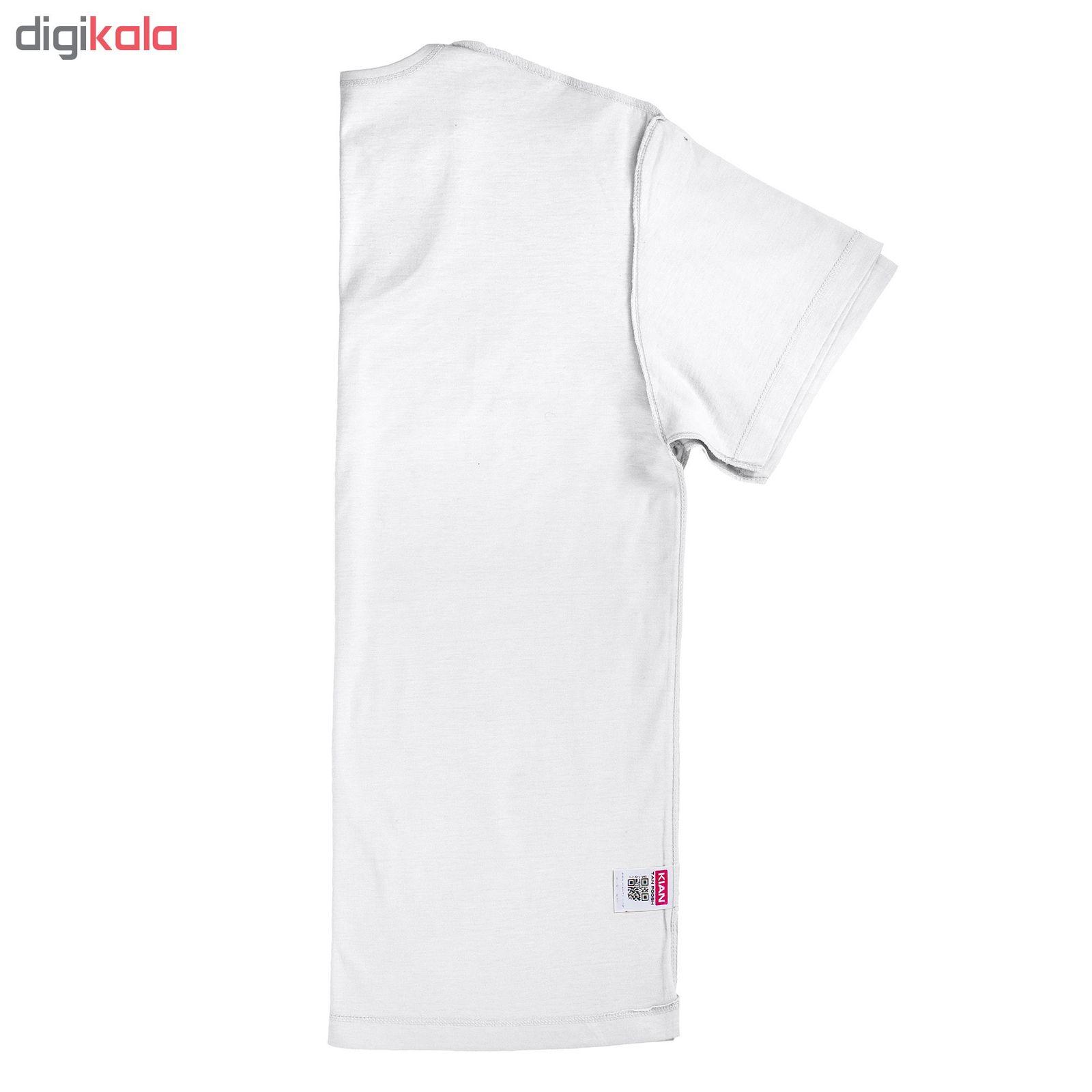 زیرپوش مردانه کیان تن پوش مدل U Neck Shirt Classic W مجموعه 12عددی main 1 5