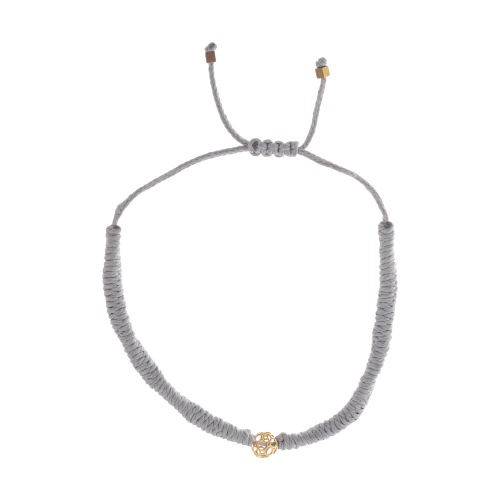 دستبند طلا 18 عیار دخترانه گرامی گالری مدل B639