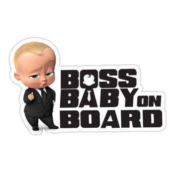 برچسب بدنه خودرو طرح Baby on Board مدل Boss-01