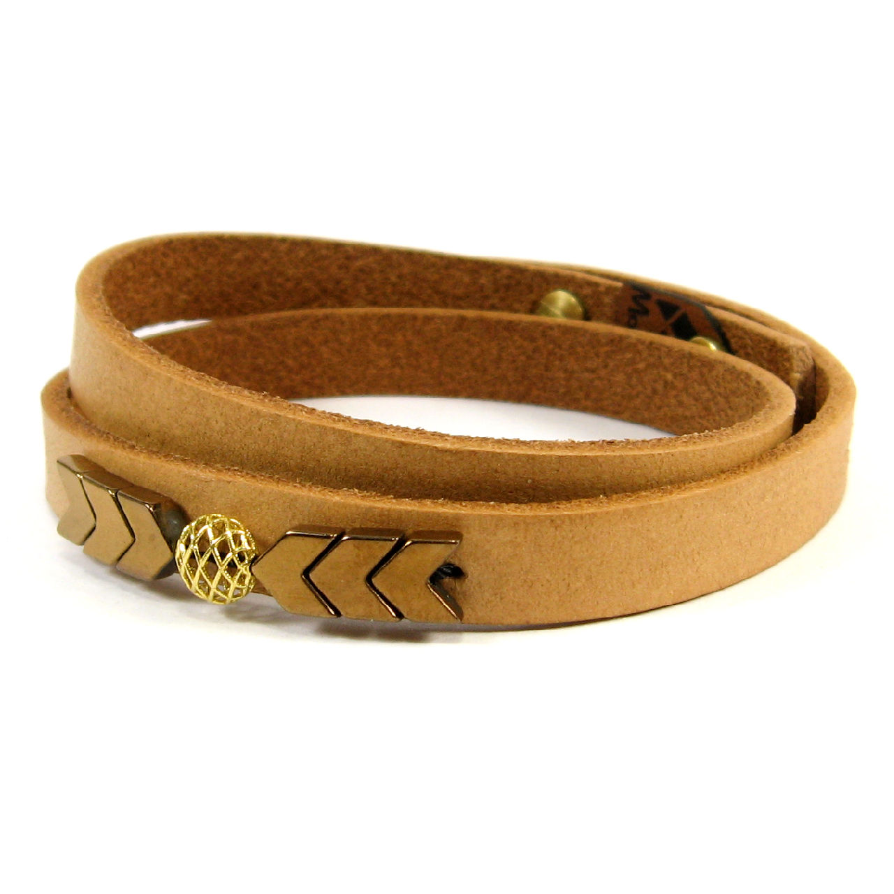 قیمت دستبند چرم و طلا 18عیار مانچو مدل bfg121
