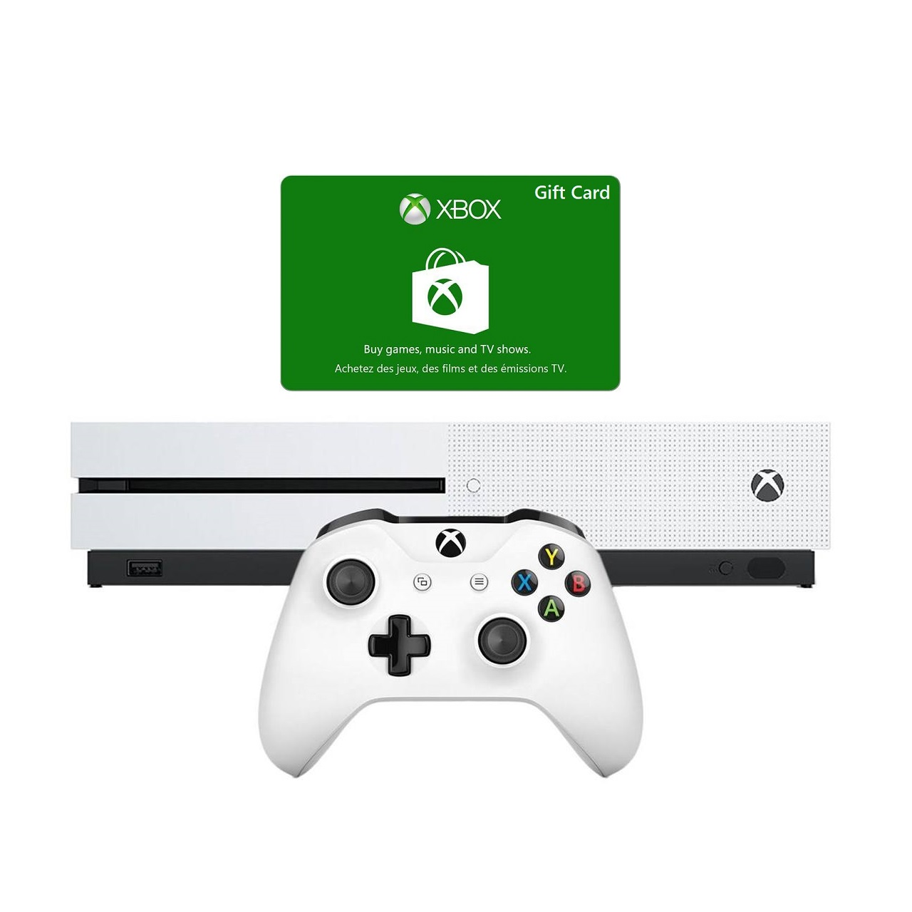 کنسول بازی مایکروسافت مدل Xbox One S ظرفیت 1 ترابایت به همراه گیفت کارت فول بازی