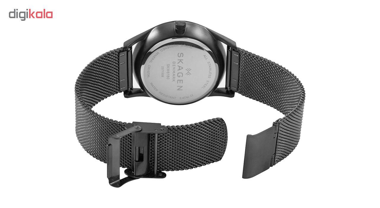 ساعت مچی عقربه ای مردانه اسکاژن دانمارک مدل SKW6180