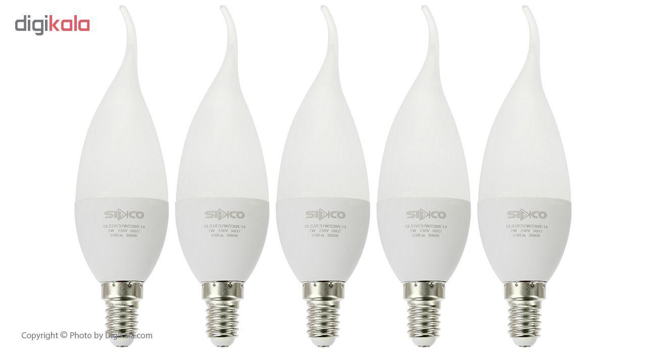 لامپ ال ای دی 7 وات سیدکو مدل C37W پایه E14 بسته 5 عددی main 1 4