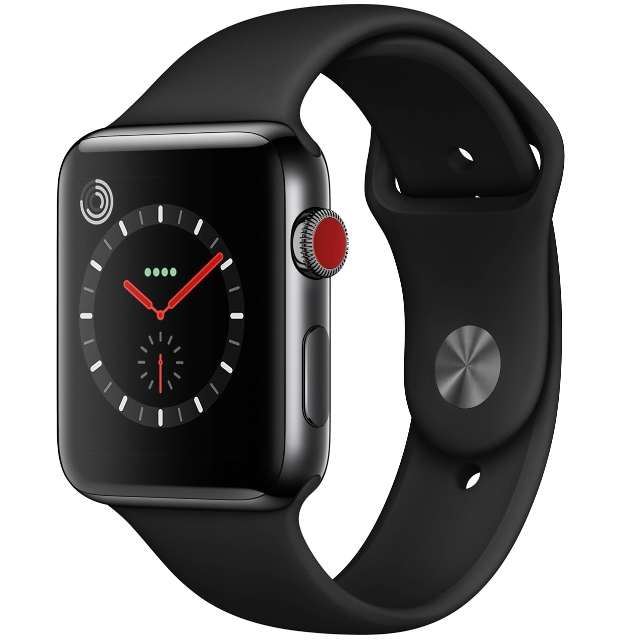 ساعت هوشمند اپل سری 3 سلولار مدل  42mm Space Black Aluminium