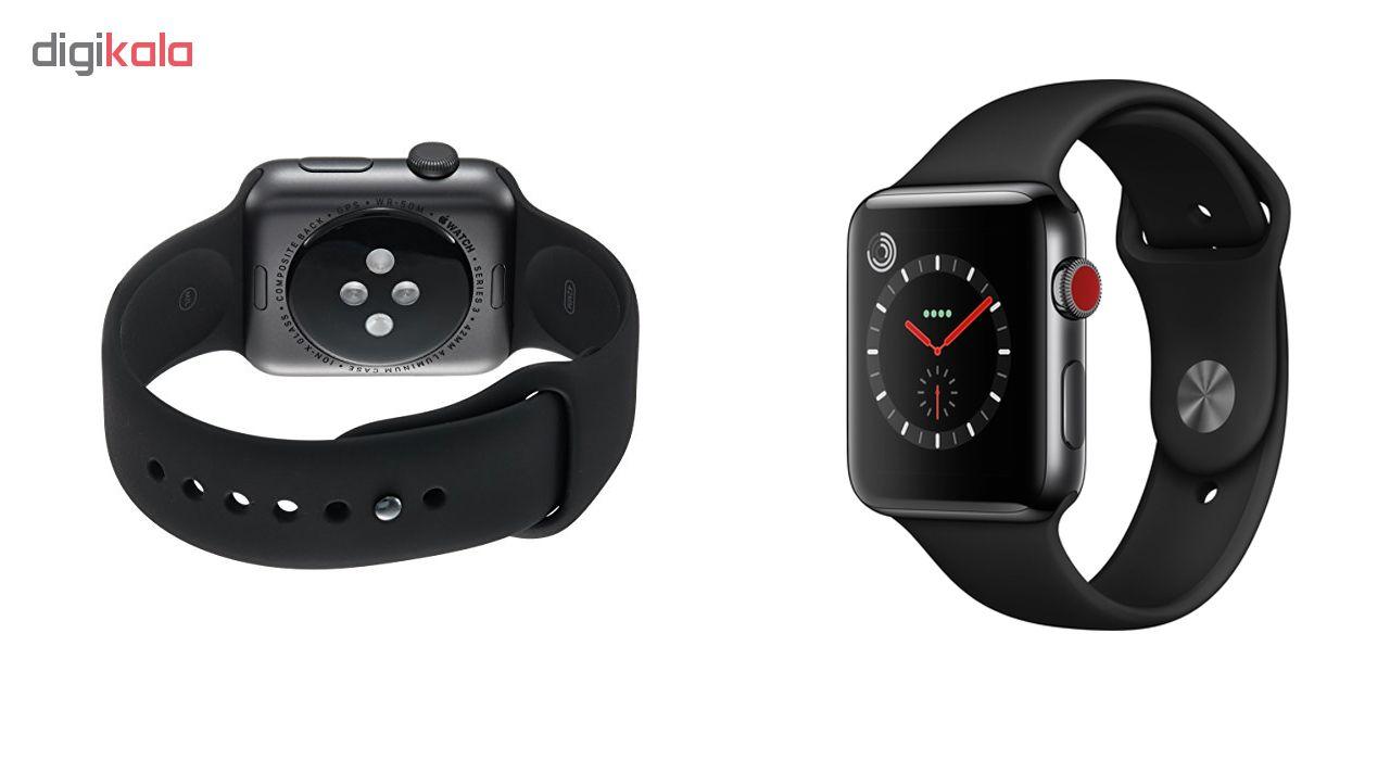 خرید ساعت هوشمند اپل سری 3 سلولار مدل  42mm Space Black Aluminium