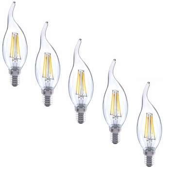 لامپ ال ای دی فیلامنتی 4 وات کد 02 پایه E14 بسته 5 عددی