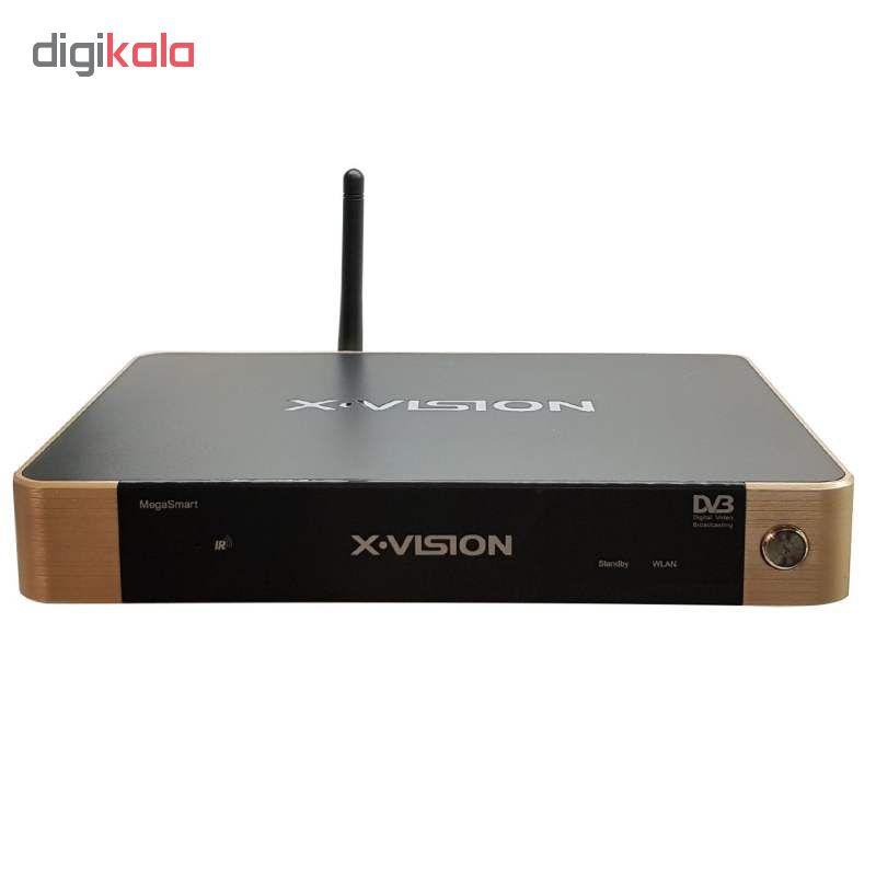 اندروید باکس ایکس ویژن مدل XSMT-320k به همراه آنتن رومیزی پروویژن DVB-T601