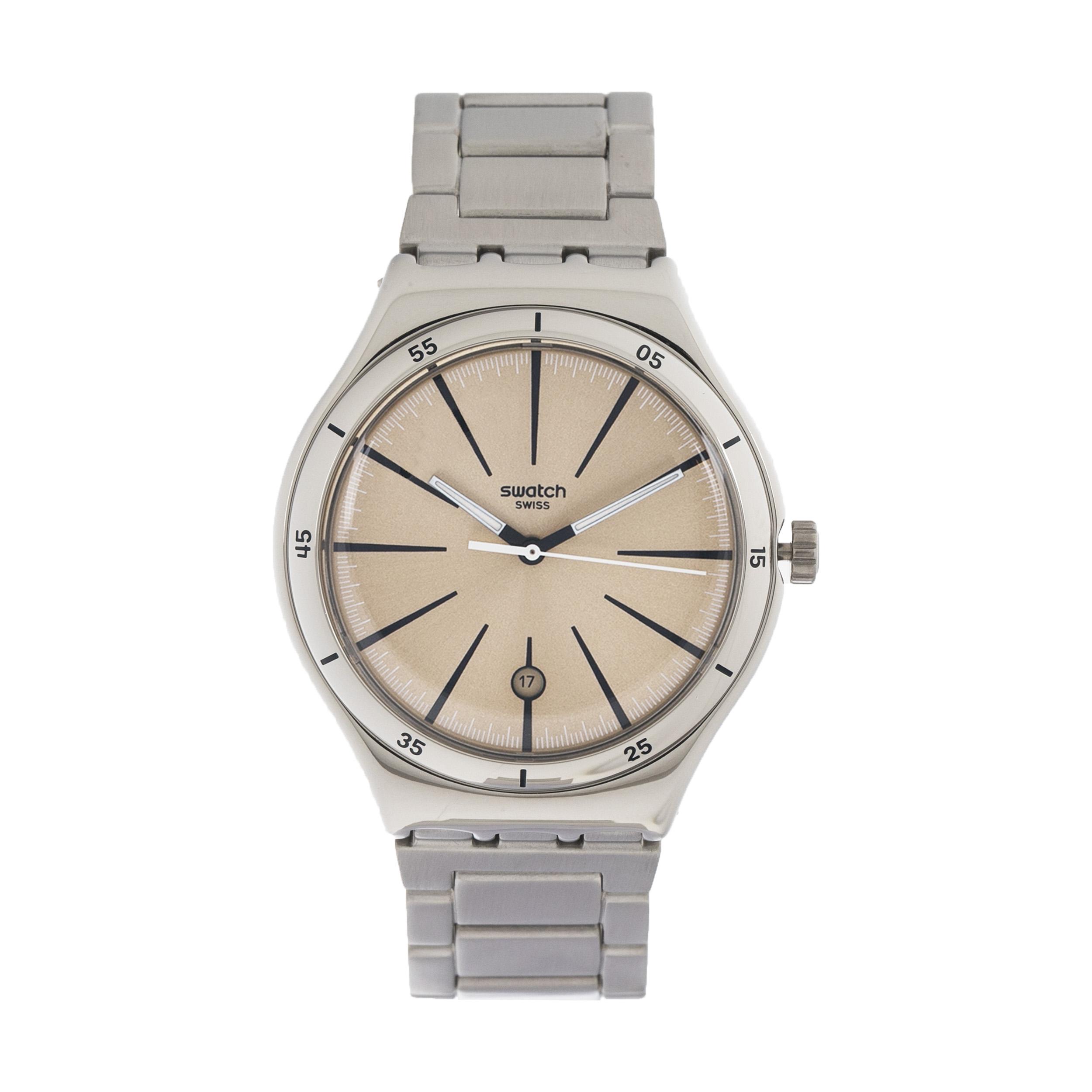 ساعت مچی عقربه ای مردانه سواچ مدل YWS408G-2