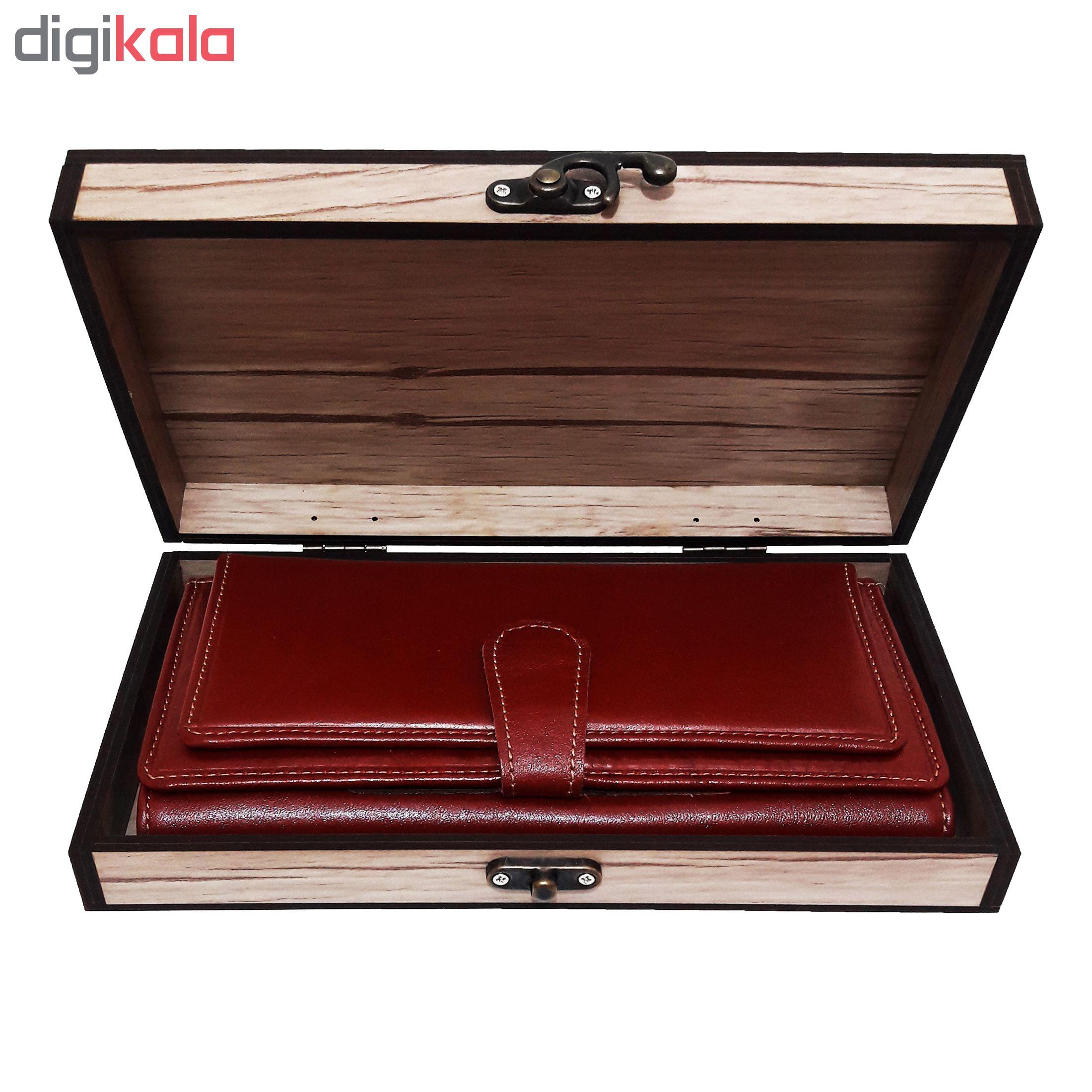 خرید                      جعبه هدیه چوبی مدل 58