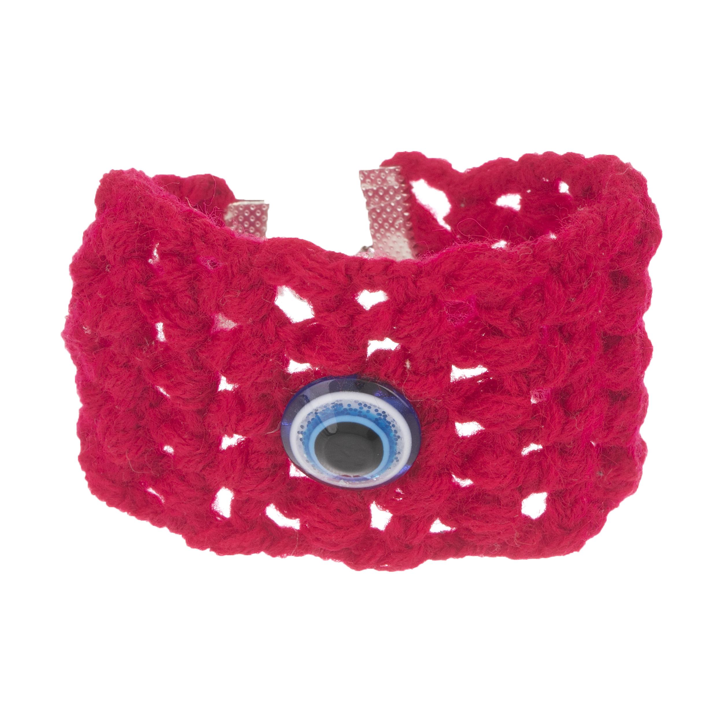 دستبند زنانه طرح چشم نظر کد 8 تک سایز