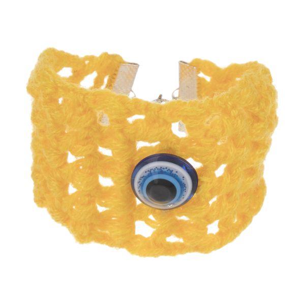 دستبند زنانه طرح چشم نظر کد 9 تک سایز