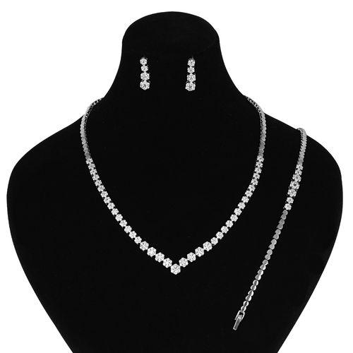 نیم ست نقره زنانه مدوکلاس کد 180343