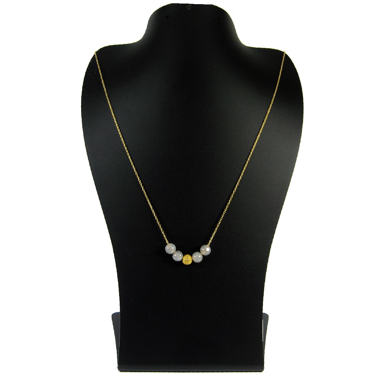 قیمت گردنبند طلا 18 عیار زنانه مانچو مدل sfg620n