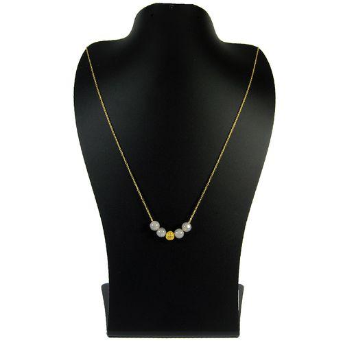 گردنبند طلا 18 عیار زنانه مانچو مدل sfg620n