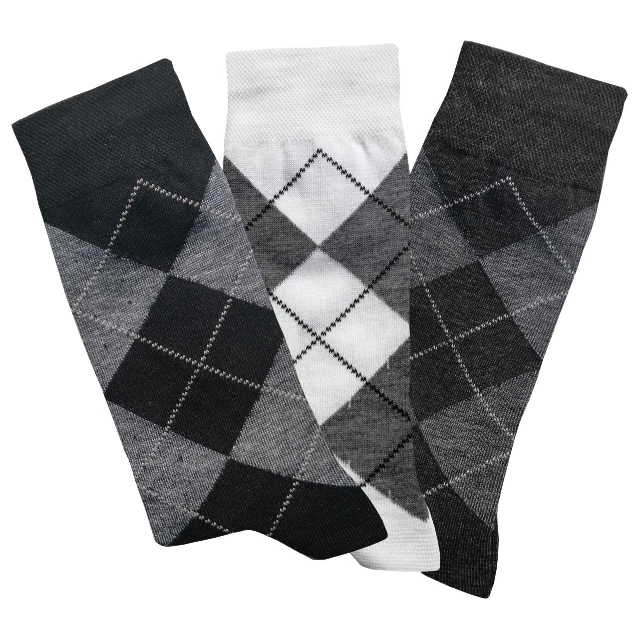 جوراب مردانه کد 4007 مجموعه 3 عددی