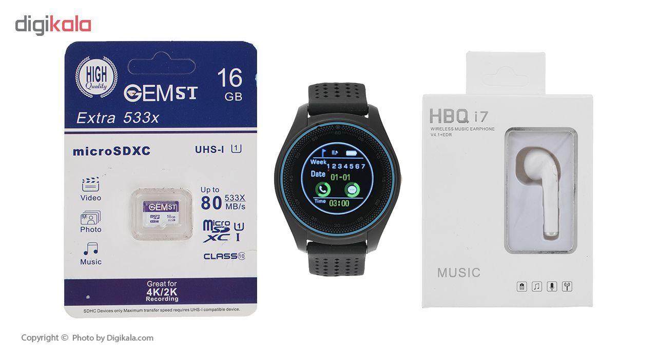ساعت هوشمند اسمارت 2030 مدل S-009 به همراه هندزفری اچ بی کیو مدل i7 و کارت حافظه 16 گیگابایتی main 1 1