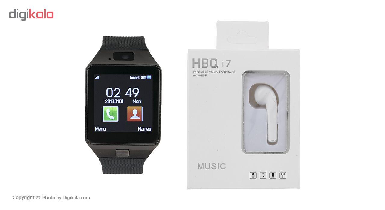 خرید ساعت هوشمند اسمارت بیسون مدل SB-01 به همراه هندزفری اچ بی کیو مدل i7