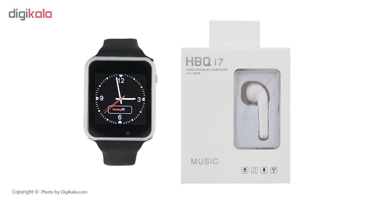 خرید ساعت هوشمند جی-تب مدل W101 Hero به همراه هندزفری اچ بی کیو مدل i7