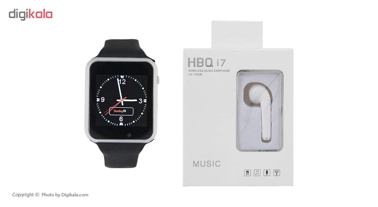 ساعت هوشمند جی-تب مدل W101 Hero به همراه هندزفری اچ بی کیو مدل i7 main 1 1