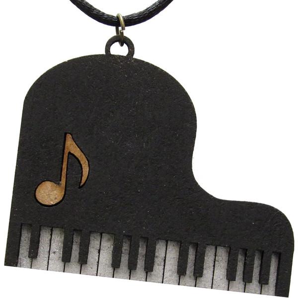 گردنبند زنانه طرح پیانو مدل BK-353