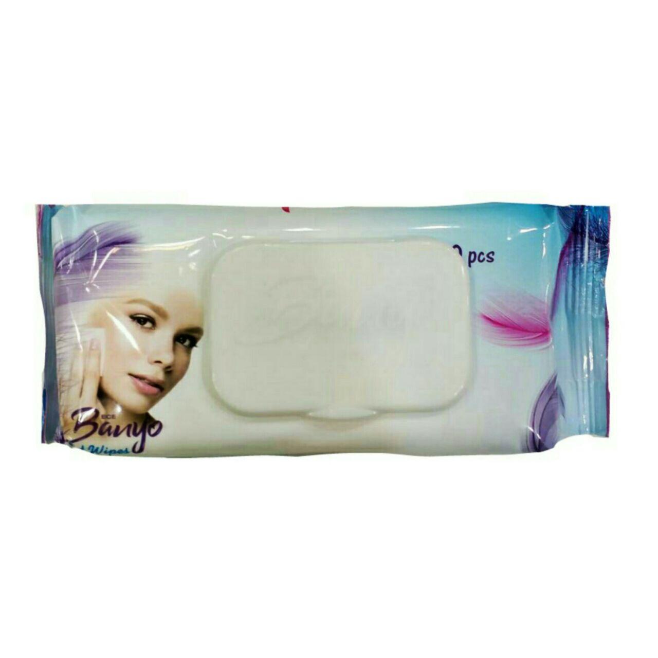 دستمال مرطوب پاک کننده آرایش بانیو مدل make up بسته 60 عددی