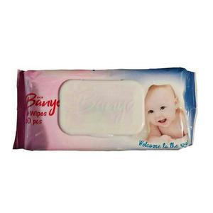 دستمال مرطوب کودک بانیو مدل sensitive بسته 60 عددی