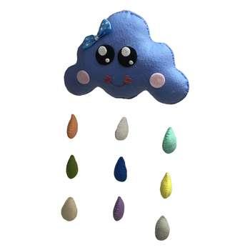 آویز اتاق کودک طرح ابر بارانی مدل Q101