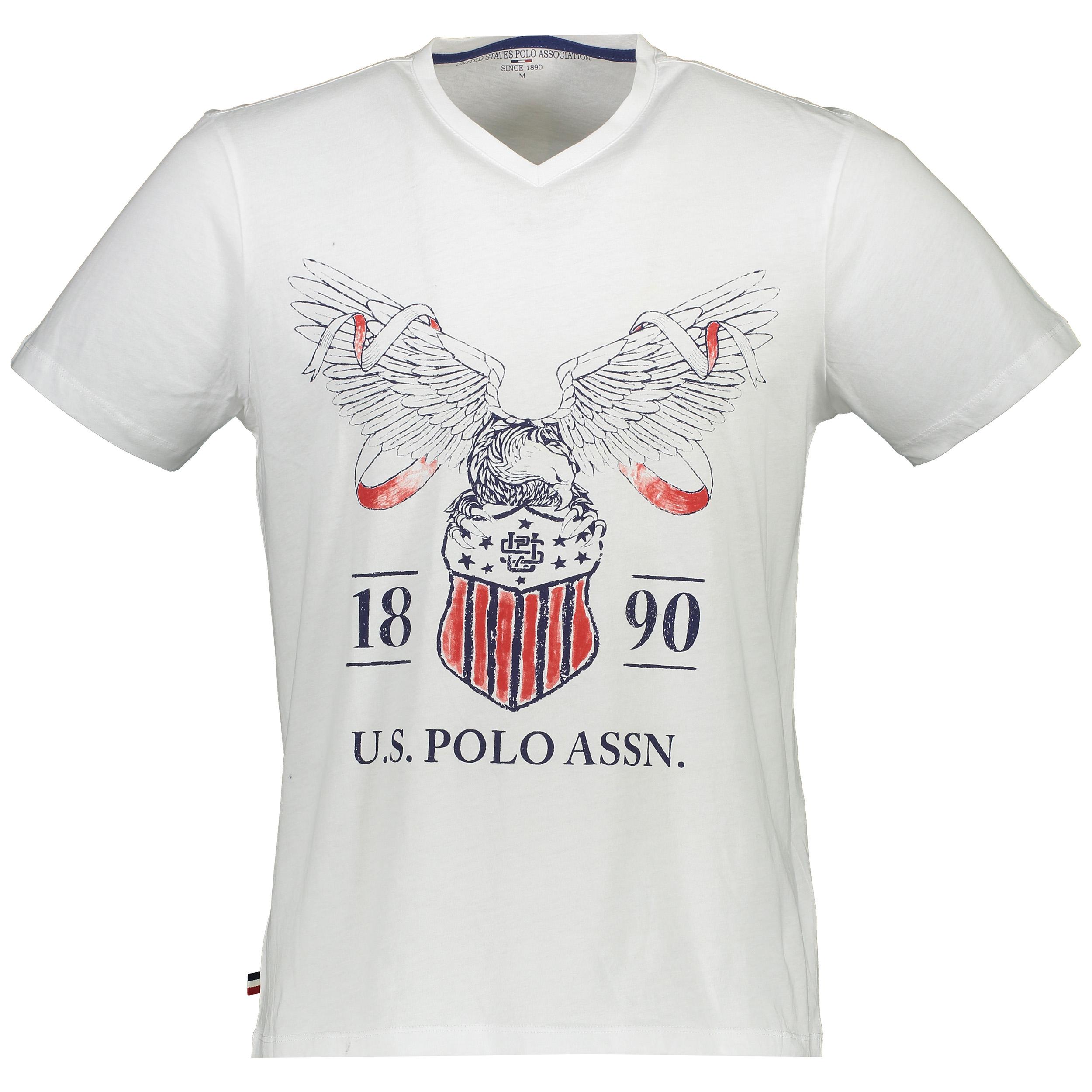 تی شرت آستین کوتاه مردانه یو اس پولو مدل 081127
