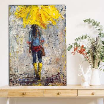تابلو شاسی گالری استاربوی طرح دخترانه مدل هنری 76