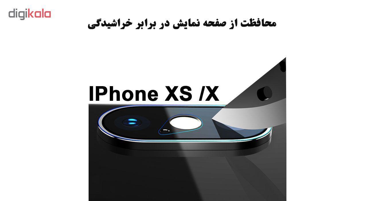 محافظ لنز دوربین هورس مدل UTF مناسب برای گوشی موبایل اپل iPhone X بسته دو عددی main 1 3