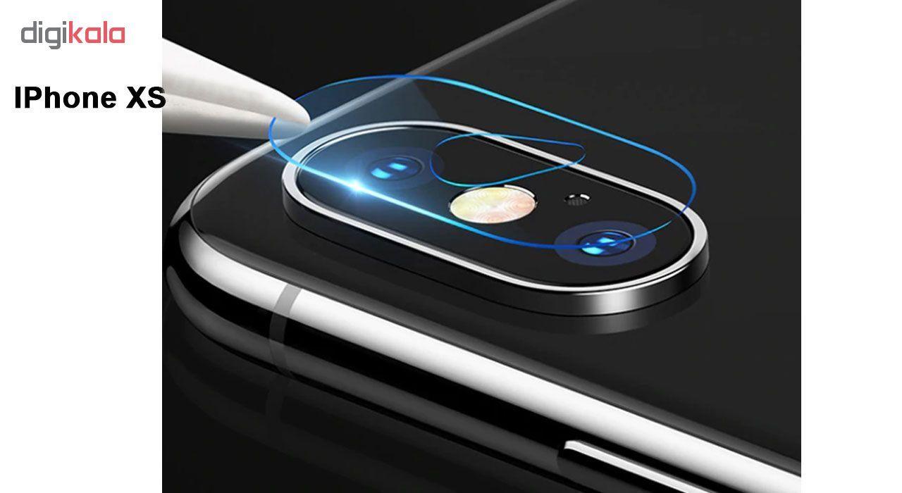 محافظ لنز دوربین هورس مدل UTF مناسب برای گوشی موبایل اپل iPhone XS بسته دو عددی main 1 2