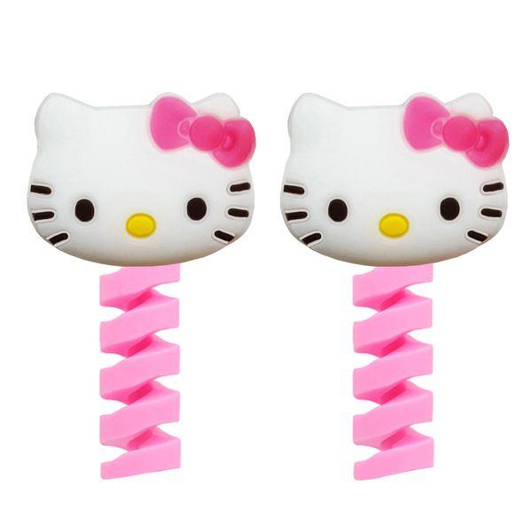 محافظ کابل شارژ طرح Hello Kitty کد F1 بسته دو عددی