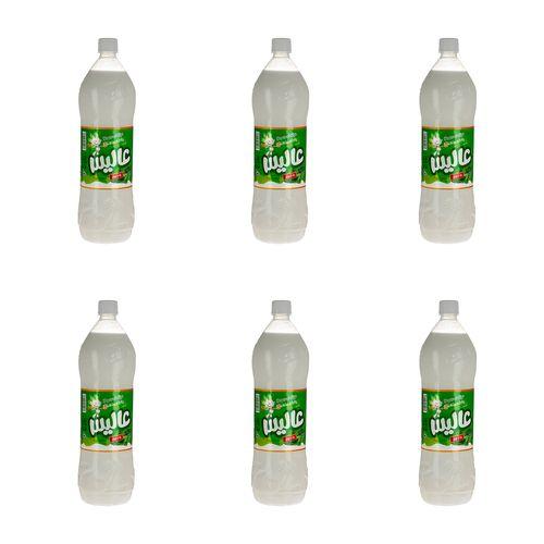 دوغ بدون گاز با طعم نعناع عالیس مقدار 1.5 لیتر بسته 6 عددی