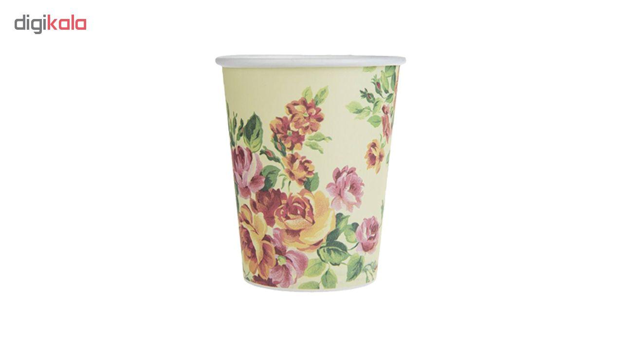 لیوان یکبار مصرف کاغذی الین پلاست مدل KGH1-100 بسته 100 عددی