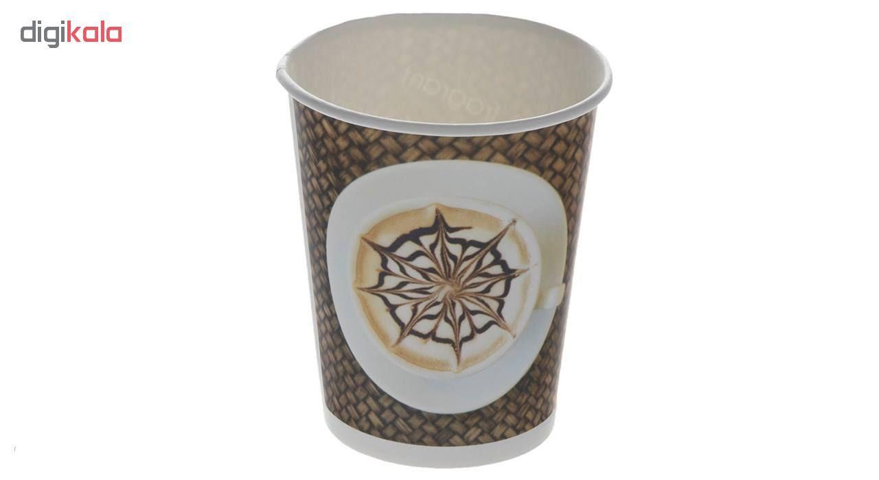 لیوان یکبار مصرف کاغذی الین پلاست مدل KGH2-40 بسته 40 عددی main 1 1