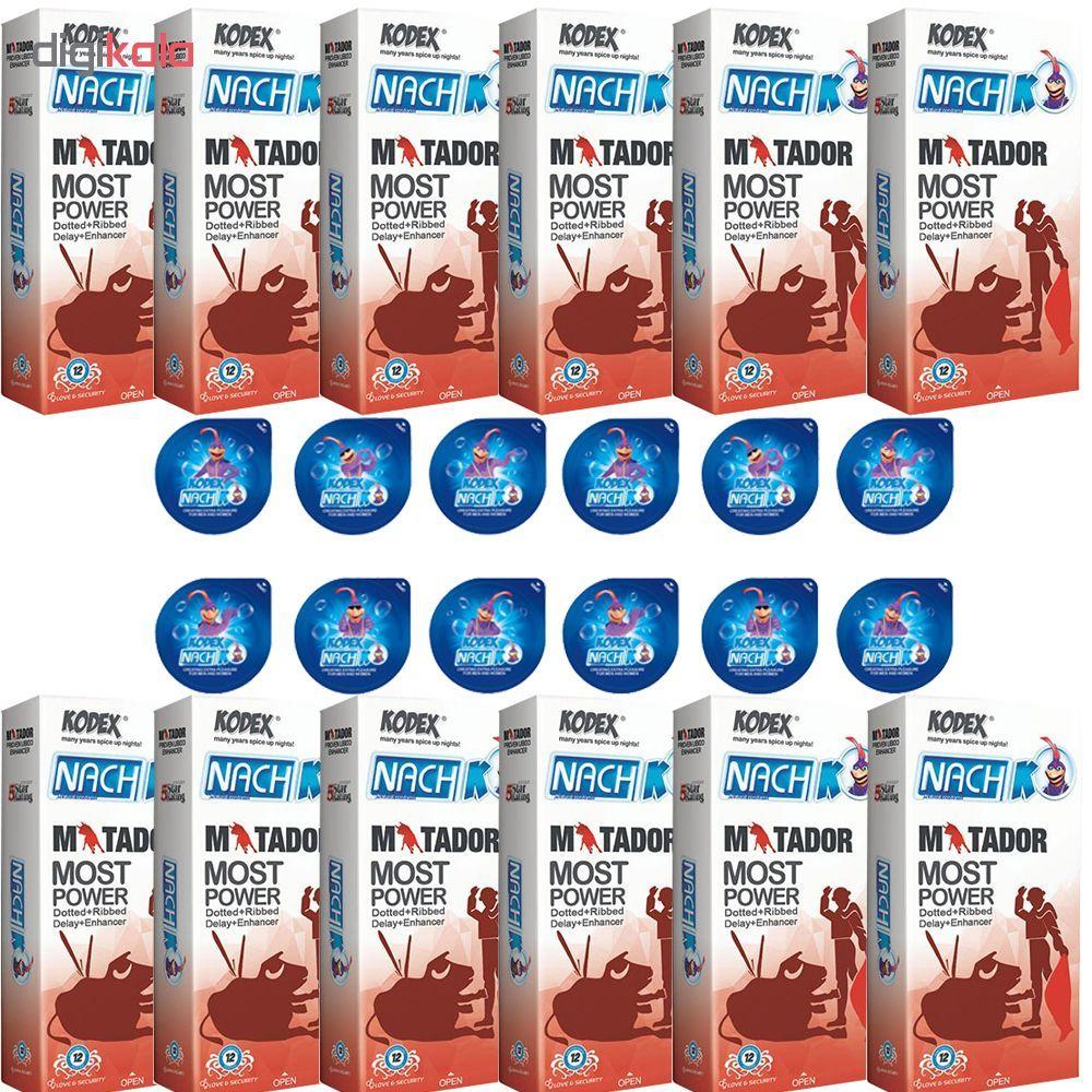 کاندوم ناچ کدکس مدل MATADOR مجموعه 12 عددی به همراه کاندوم ناچ کدکس مدل بلیسر بسته 12 عددی main 1 1