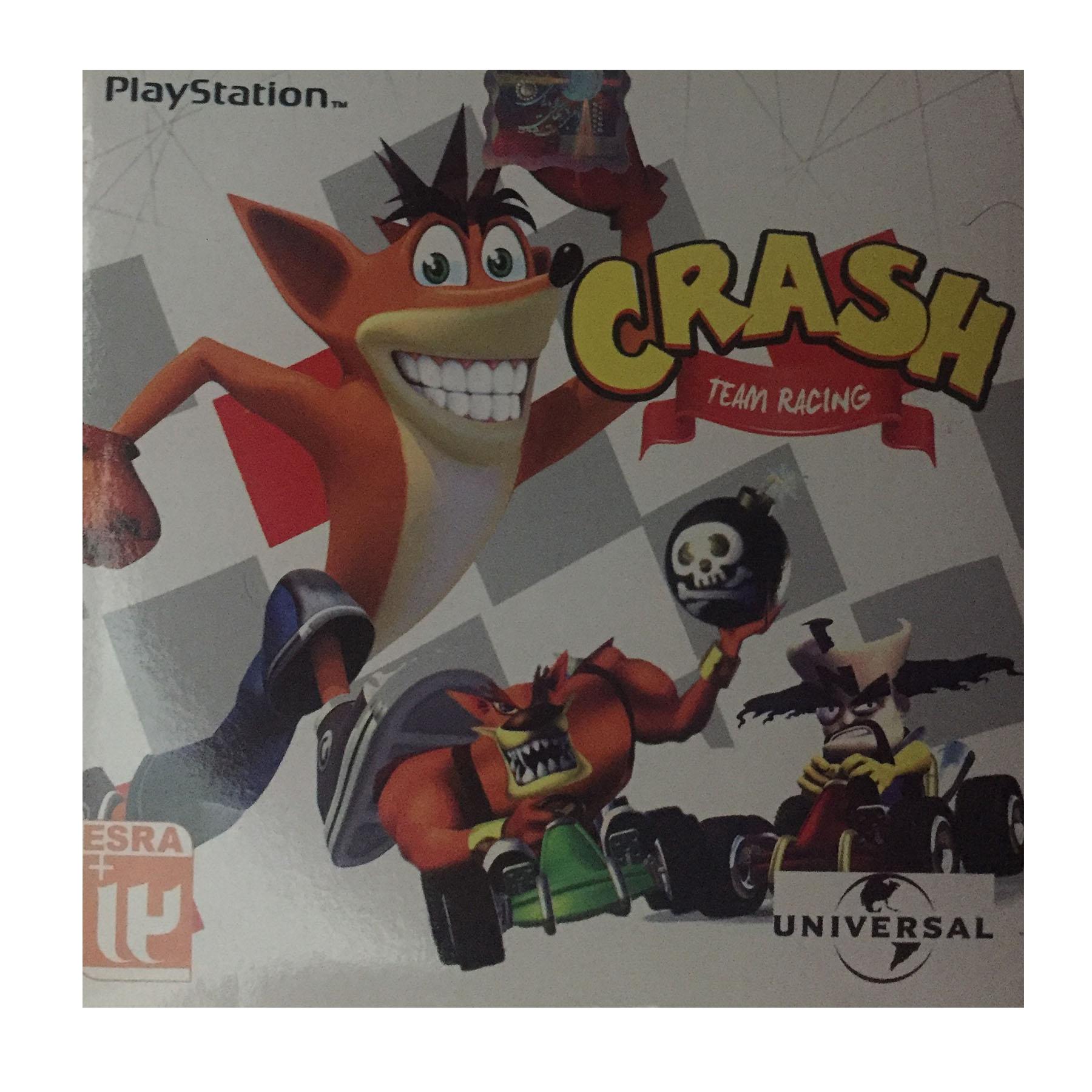 بازی CRASH مخصوص PLAYStation1 (به همراه هدیه ۱ عدد سی دی آلبوم موسیقی مکث)
