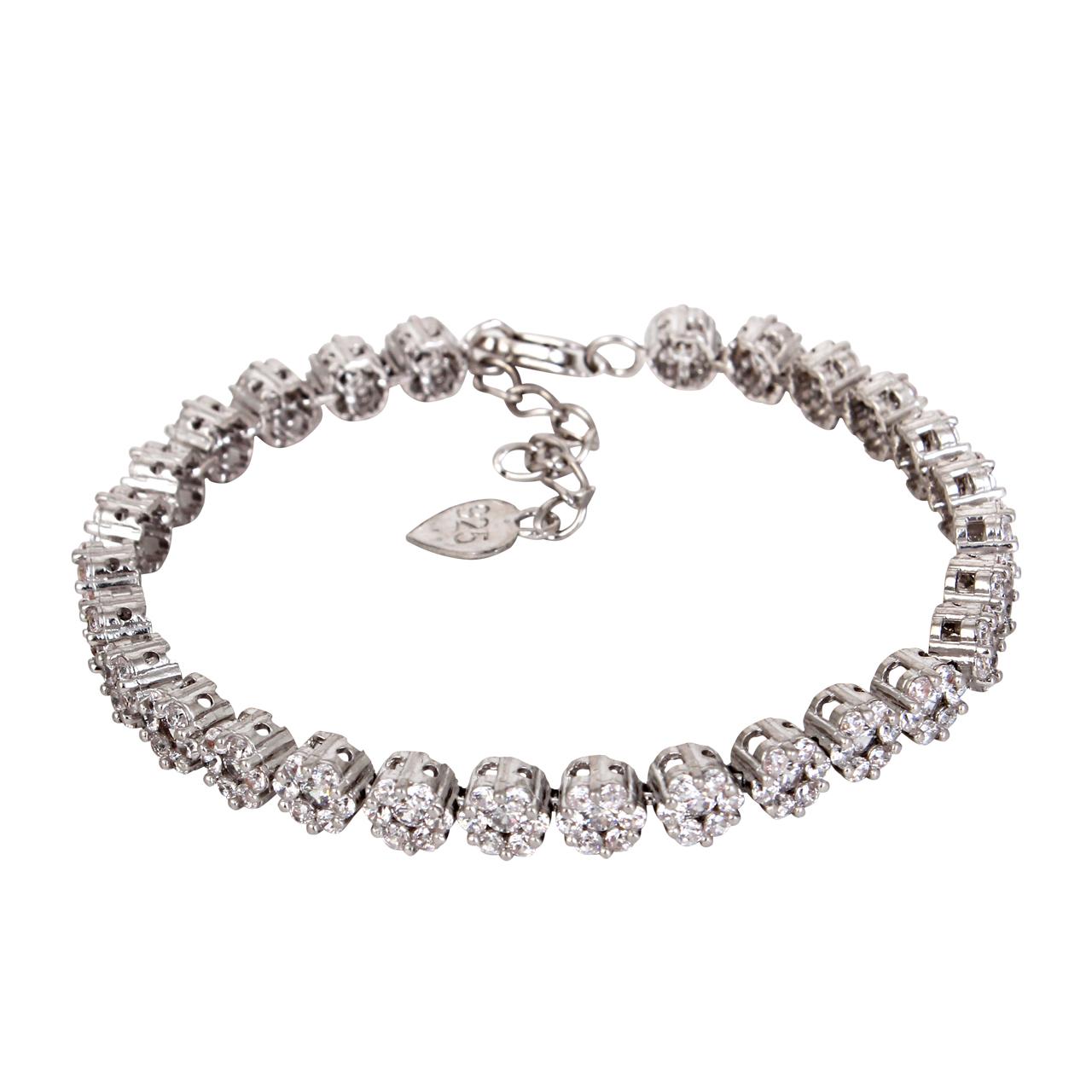 قیمت دستبند نقره زنانه مدوکلاس کد 180384