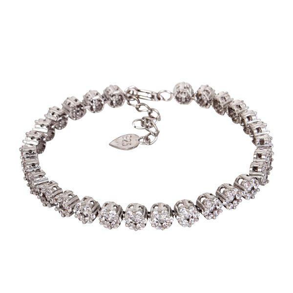 دستبند نقره زنانه مدوکلاس کد 180384
